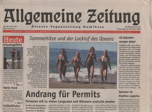 Bild einer Tageszeitung