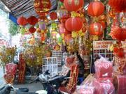Geschäftsstsraße in Hanoi