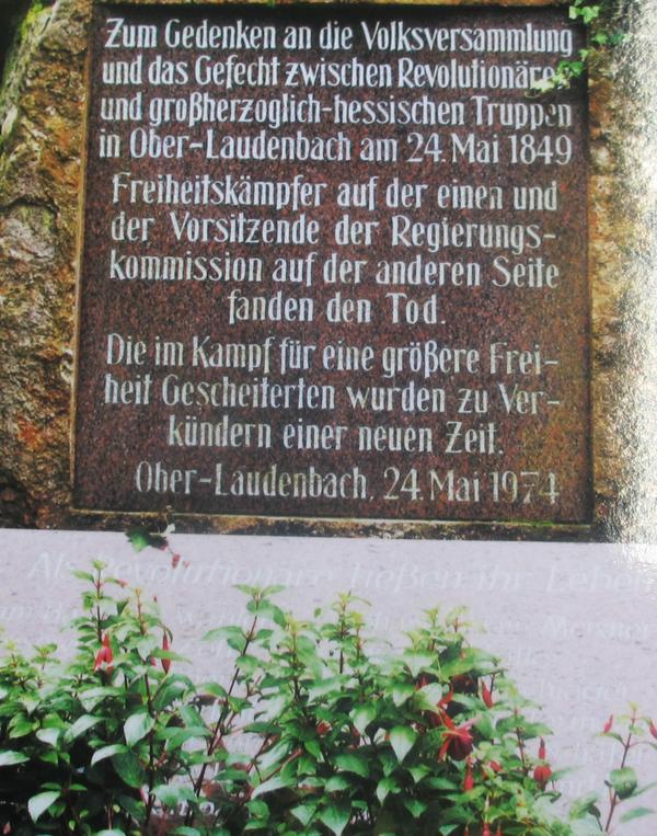 Gedenkstein für die 13 Revolutionäre
