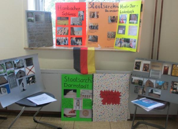 Präsentation der Schülerarbeiten
