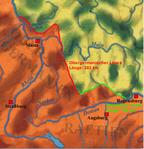 Karte: Obergermanische-Rätischer Limes um 200n. Chr.