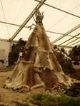 Zelt aus Tierfellen aus der Eiszeit
