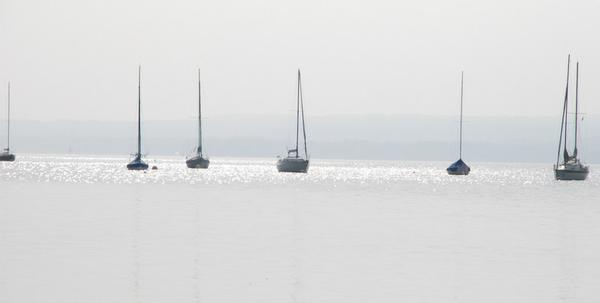 Seegelboote auf dem Ammersee