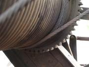 Kraftübertragung durch Seil, Rolle und Zahnräder