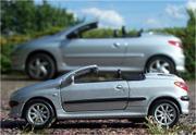 Sehwinkel bei Modellauto und großem Auto